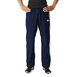 Adidas Essentials 3s Men's Tracksuit Trousers Woven, Men, Essentials 3s Pant Woven, College Navy Blue White