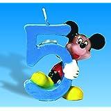 Vela Número 5 Mickey Mouse