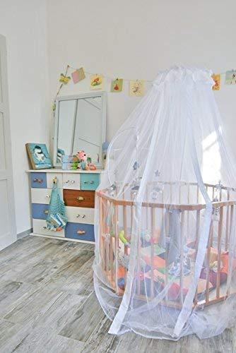 Moustiquaire Ciel de lit bébé TRANQUILISAFE et son support universel