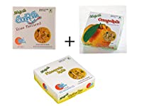 Sohan Papdi Sweets Rose Son Rolls + Orange Son Rolls + Pineapple Son Rolls - 250G X 3 (Combo Pack) - Free Shipping