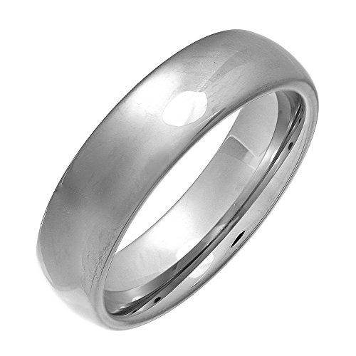Theia Unisex-Ehering Nickelfrei Tungsten Hochglanz Poliert metallisch 6mm - Gr. 61 (19.4)  Preisvergleich