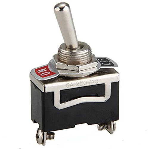 lovelifeast 5x 12V schwere Toggle Flick Schalter auf/aus Metall SPST 12Volt Dash Light Auto Langlebig