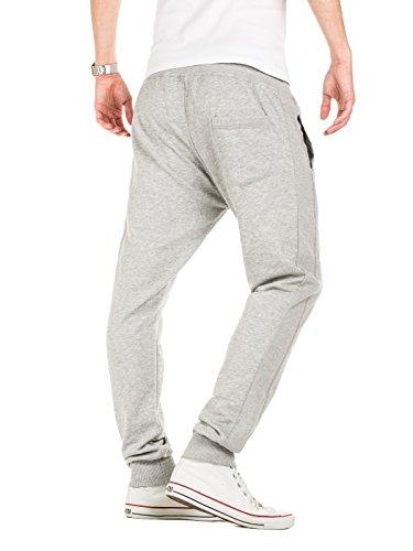 Yazubi Herren Jogginghose Freizeithose Sweatpants Sport Hose Edward Grau (Storm Gray 154003)