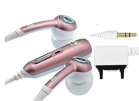 Original Sony Ericsson HPM-70 Handy Stereo InEar Headset mit Rufannahme und Mikrofon - Farbe : Pink / White - (ohne zusätzliche
