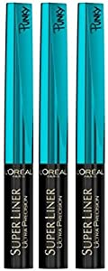 3 x LOreal Paris Super Liner Ultra Precision Liquid Eyeliner (15 Punky Turquoise)