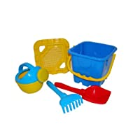 Polesie 35462 No.284 Sieve, Shovel, Rake No.5, Small Watering Can No.4-Sets: Fortress Bucket, Big, Multi Colour
