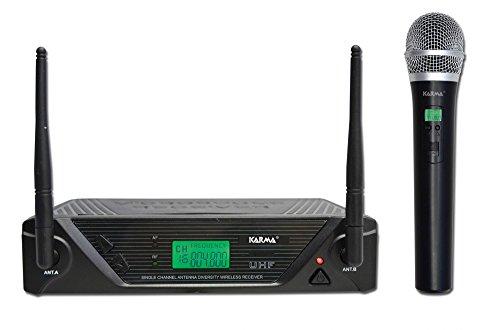 Karma SET 7430 Radiomicrofono Palmare Uhf, Nero
