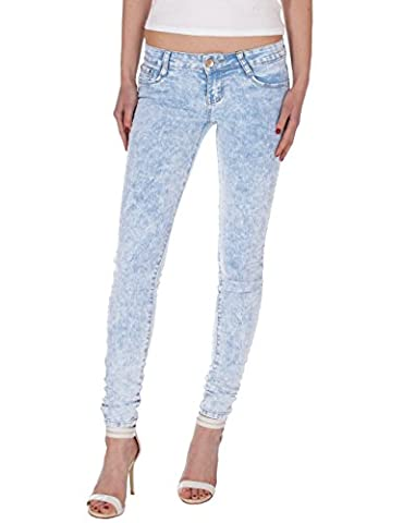 Fraternel pantalon jeans femme skinny taille basse Bleu clair M / 38 -W30