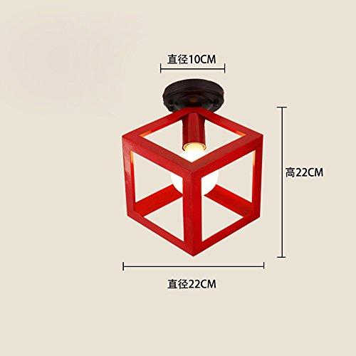 Retro-industriellen wind Deckenleuchte galerie Einhaltung der Balkon licht Studie Eisen Lampen sind Parteien die Lampe zu personalisieren, wenn Red Box 22 cm im Vergleich