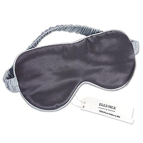 ElleSilk Schlaf-Augenmaske aus 100% Natural Seide, Schlafbrille für komplette Dunkelheit, Atmungsaktiv, (Charmeuse Band)