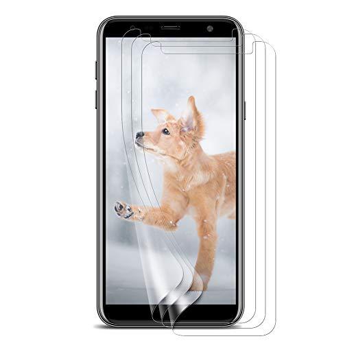 Bigmeda Schutzfolie für Samsung Galaxy J4 Plus/J6 +,Blasenfrei, Anti-Kratzen, Anti-Öl, HD Klar Flexible Bildschirmschutzfolie für Samsung Galaxy J4+/j6 Plus Folie [3 Stück]
