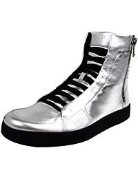 Gucci Limitado de cuero de plata edición Hightop Sneakers 376191 8163 (U.S. 13.5 / 13 G)