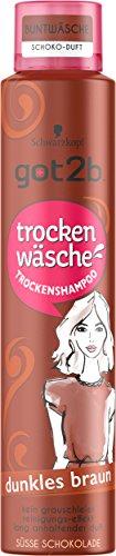 Schwarzkopf Got2b Trockenwäsche Trockenshampoo, Dunkles Braun, 3er Pack (3 x 200 ml)
