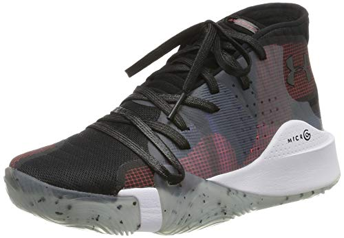 Under Armour Spawn Mid, Herren Basketballschuhe, Mehrfarbig (Black 006), 51.5 EU (16 UK)