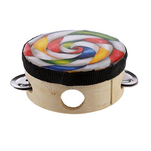 Generic Giocattolo Educativo Artigiana Lollipop Tamburello Tamburo Strumenti A Percussione - 4 Policci