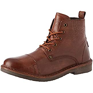 Levi's Track Brown Mens Leather Mid Ankle Boots 16