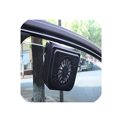 Auto Styling Solar Power Auto Fenster Lüfter 5,5x6cm Umweltkühler Solar Lüfter mit Gummistreifen Autozubehör