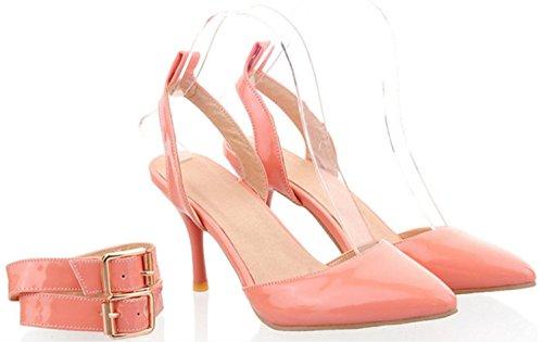 csdm-donna-sandali-punteggiati-a-punta-da-sposa-scarpe-da-sposa-in-pelle-da-sole-pink-37