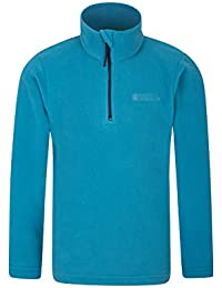 Mountain Warehouse Camber Kids Fleece - Lightweight & Breathable, Quick Drying, Waterproof, Antipill with More Comfort & Extra Ventilation - Suitable for Layering