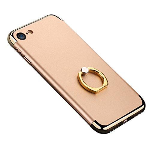iphone 7 Plus Schutzhülle mit Ring Ständer,SUNAVY 3 in 1 Stoß-ultradünne harte Schutzhülle für Apple 7Plus Back Cover Stoßstange Hintergrund Beschützen,5.5zoll,Schwarz Glod