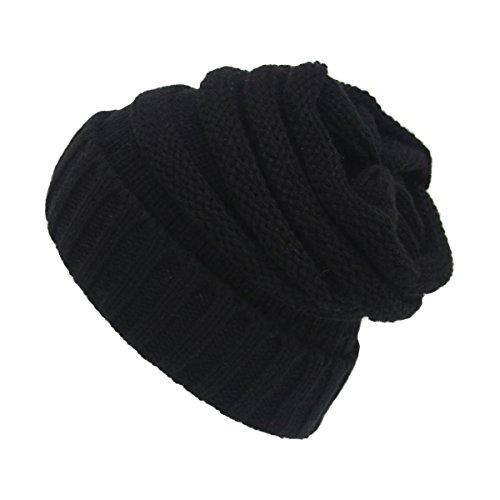 Warm Beanie Mütze, Strickmützen – iParaAiluRy Luxuriöse Modische Soft Slouchy Cap im Winter und Frühling mit Flecht Muster – Unisex Stricken Wolle