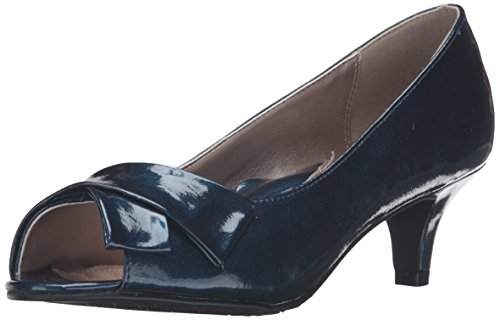 Doux Style Par Hush Puppies Pump Aubrey Dress True Navy Pearlized Patent