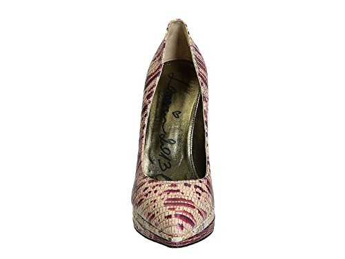 Compensées Lanvin en peau de serpent rose/blanc - Code modèle: AW5E2MYERP7A Multicolore