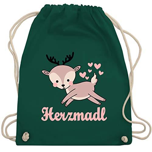 Oktoberfest Kind - Herzmadl mit süßem Reh - Unisize - Dunkelgrün - WM110 - Turnbeutel & Gym Bag -