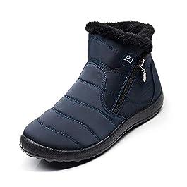 Stivali da Neve Donna Scarpe Le Signore Stivali Invernali Casuale Boots Caldo Foderato in Pelliccia Stivaletti All'aperto Scarpe da Passeggio Leggero Antiscivo