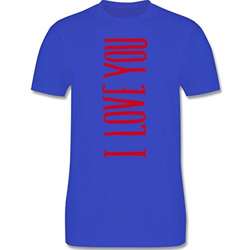 Valentinstag - I Love you vertikal - Herren Premium T-Shirt Royalblau