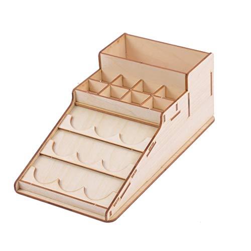 301 Holzfarbe Flaschen Lagerregal Halter Modular Master Paint Box Organizer Storage Tools - Modular Schreibtisch
