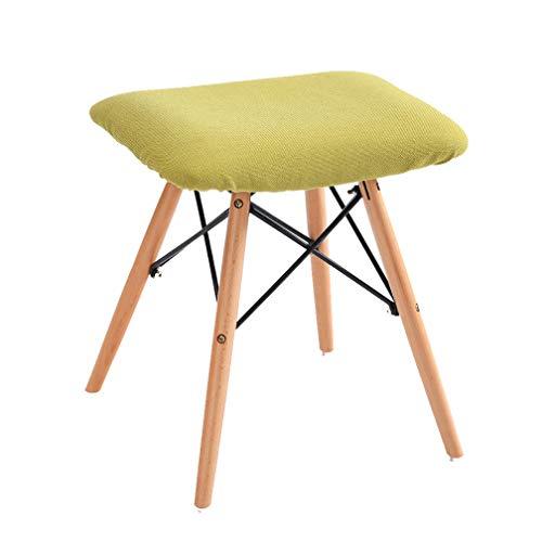 ZZSTO Tavolino da Trucco Trucco Pettine Sgabello da Pranzo Sedia Bambino Adulto Sedile sfoderabile Divano in Legno massello Gambe (Colore : D)