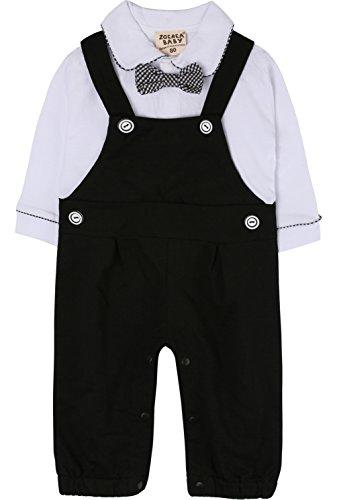 Zoerea 1PC Baby Junge Strampler Lange Ärmel Kleidung Baumwolle für Frühling Sommer Taufe Hochzeitsfeier