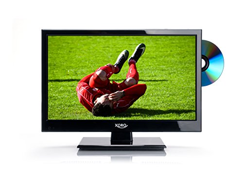 Xoro HTC 1546 40 cm (15 Zoll) LED Fernseher (HD/PVR Ready, Triple Tuner DVB-S2/T2/C, H.265/HEVC-Decoder, DVD/Mediaplayer, USB 2.0, Timeshift, 12 V) (Digital-tv-tuner-dvd)