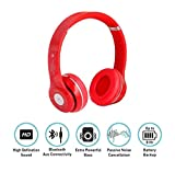 Esportic S460 Foldable On-ear Wireless Stereo Bluetooth Headphones Supports MP3, FM & TF Card Reader Compatible with Xiaomi Mi, Apple, Samsung, Sony, Lenovo, Oppo, Vivo Smartphones (1 Year Warranty, Colour May Vary)