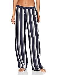 Tommy Hilfiger Wide Leg Pant Stripe Pantalón de Pijama para Mujer