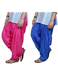 ROOLIUMS ® (Brand Factory Outlet) Punjabi Patiala Salwar Pack -2 Free size (Pink, Blue)