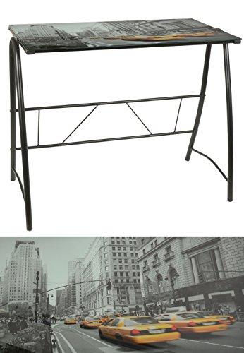 Bureau-design-NEW-YORK-TAXI-6mm-noir-table-en-verre-table-de-bureau-table-dordinateur