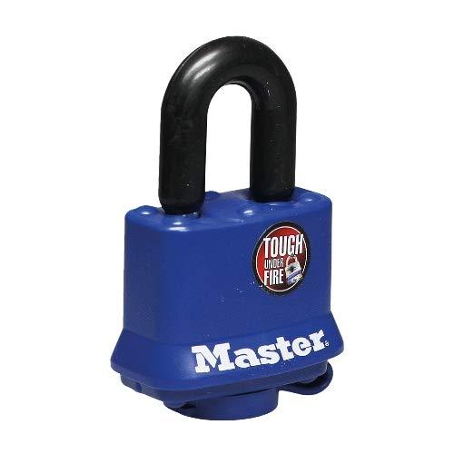 Master Lock Vorhangschloss mit Witterungsschutz VHS 312-40 mm, thermoplastische Beschichtung, gehärteter Stahlbügel 25 x 10 mm