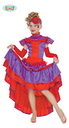 (Saloongirl - Kostüm für Mädchen Gr. 110 - 146, Größe:140/146)