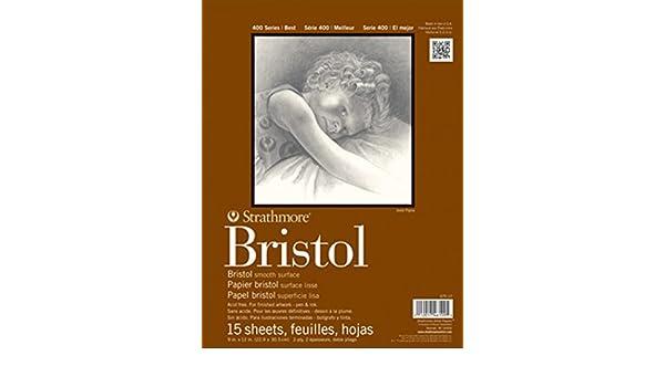 Strathmore STR-475-3 15 Sheet Bristol Vellum Pad 9 by 12