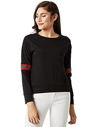 Miss Chase Women's Black Boxy Sweatshirt