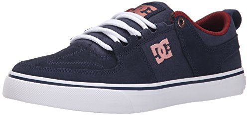 DC Women's Lynx Vulc Lace Up Skate Shoe, Navy/Gold, 10 M US Navy/Gold
