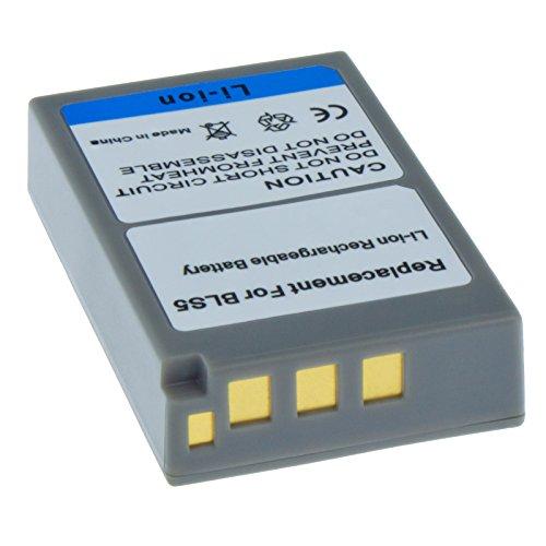 MTEC Kameraakku 1150mAh 8,51Wh 7,4V für Olympus E-M10 OM-D Pen E-PL2 E-PL5 E-PL6 E-PM2 ersetzt Originalakku Bezeichnung: PS-BLS5