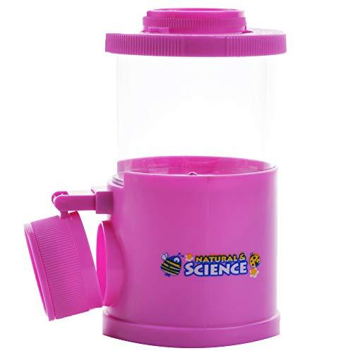 0Miaxudh Wissenschaft, die Spielzeug-Beobachtungs-Fehler-Betrachter-Insekten-Vergrößerungsglas lernt, scherzt Biologie-Beobachtungs-Schale - Purpur