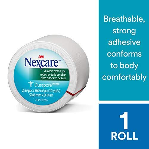 10 Yd Erste Hilfe (Nexcare zuverlässige Stoff Klebeband, haftet Sicher, sichere Stabilisierungsstäben, mit starken Haftkraft, 2-inches X 10-yards)
