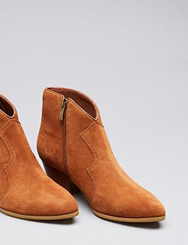 FIND Western Ankle, Stivali Donna Beige (Tan)