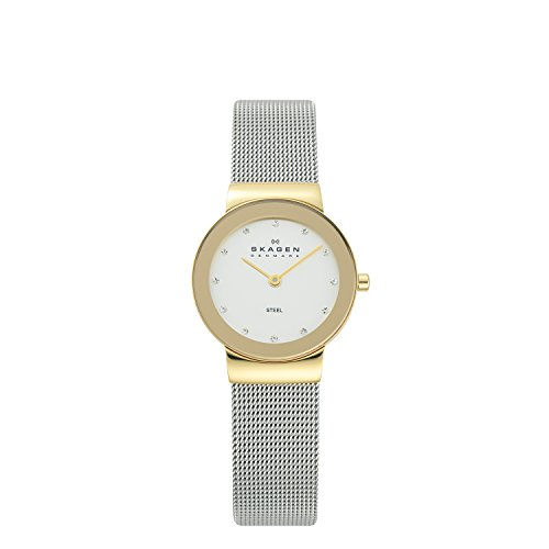 skagen-ladies-watch-358sgscd-with-silver-stainless-steel-bracelet-and-gold-case