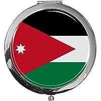 """metALUm - Extragroße Pillendose in runder Form""""Flagge Jordanien"""" preisvergleich bei billige-tabletten.eu"""