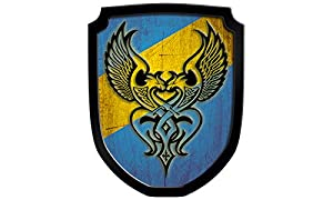 Madera spielerei 33560de B-Escudo Cartel Phönix, Azul